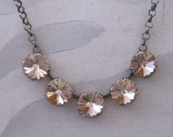 SwarovskI Vintage Rose Crystal Necklace