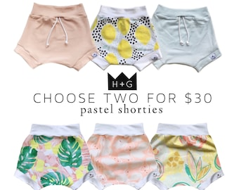 SALE 2-PACK, Bummies, Shorties | Bloomers | Baby Girl Gift | Baby Clothes | Baby Girl | Toddler Shorts | Diaper Cover | Pink Baby shorts