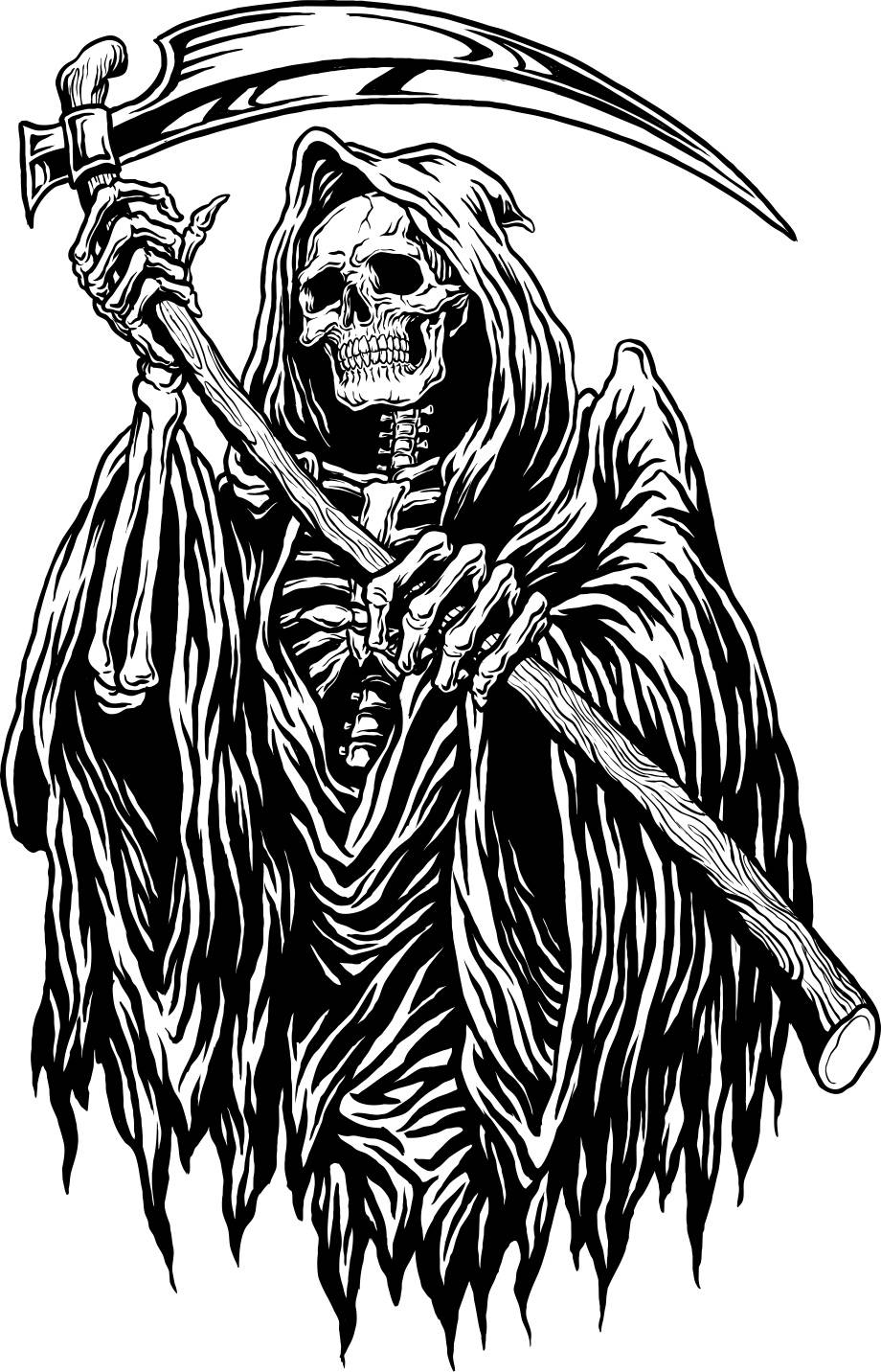 Grim Reaper Wall Decals For Festive Seasons Halloween