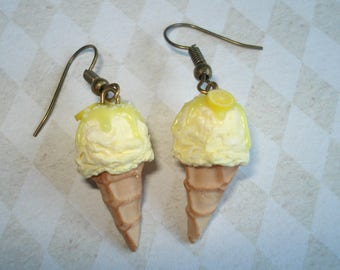 Hand-made ice lemon sorbet