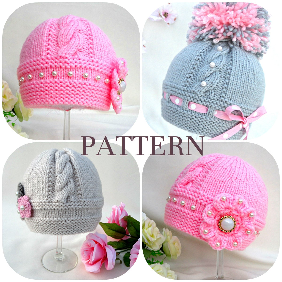 Knitting P A T T E R N Knitting Baby Hat Baby Patterns Knitted Baby ...