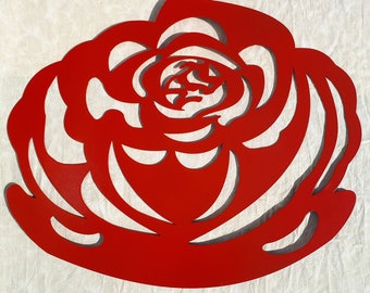 Red Rose, Metal Art, Flower, Wall Decor