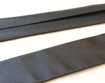 """1 meter ( 1.09 yds) 1"""" black imitation lether bias tape bias binding diy craft supplies leder lether ledere kunstleder haberdashery"""
