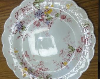 """Vintage Ridgeway Dinner Plate/"""" English Garden"""" Design"""
