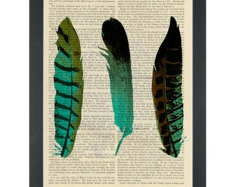 Birds of a feather Dictionary Art Print