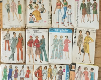 Lot 2-Vintage Sewing Patterns-11 patterns