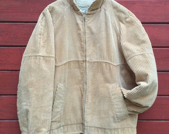 Vintage William Barry Brandon Colorado corduroy sherpa coat
