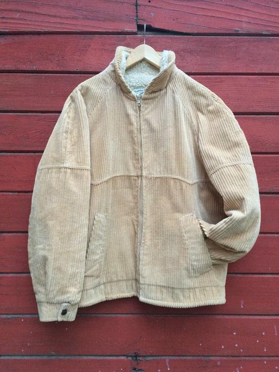 Vintage William Barry Brandon Colorado corduroy sherpa coat yvdxMR