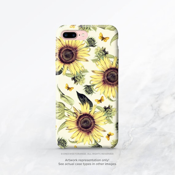 iphone 8 case sunflower