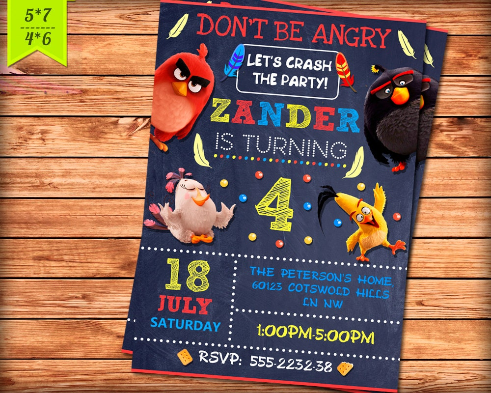 Angry Birds Invitation. Printable Angry Birds Party Digital