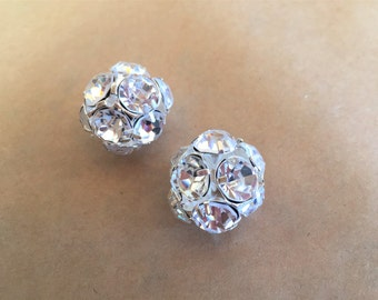 Two Sparkly Crystal Beads (Item #5876)