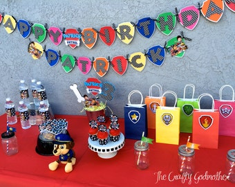INSTANT DOWNLOAD Paw Patrol Inspired Birthday Party Printable Set