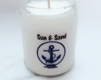 NEW Sun & Sand Soy Candle~Same day Shipping~Summer Candle Fragrances~Unique Candle~Yankee Candle Fragrances~Beach Candles~Beach Gifts