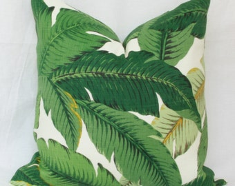 Palm leaf Banana leaf Tropical outdoor pillow cover 18x18 20x20 22x22 24x24 26x26 Euro sham lumbar pillow 12x20 12x24 14x26 16x24 16x26