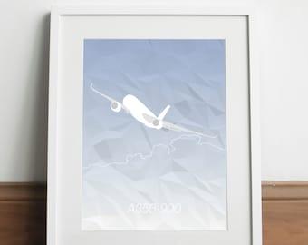 Airbus A350-900 Aircraft - Art print