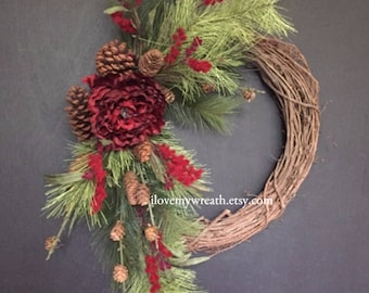 winter wreaths, wreath for front door, Christmas wreaths, beautiful wreaths, Christmas wreath for door, Christmas door decor, home decor