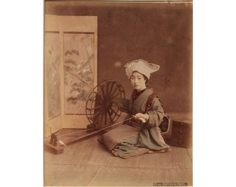 Woman Spinning - Framed - FREE SHIPPING