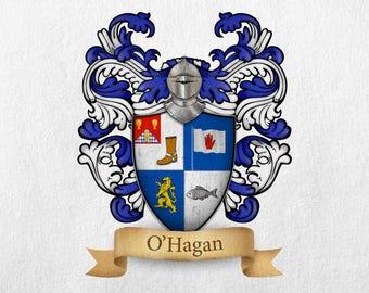 O'Hagan Family Crest - Print