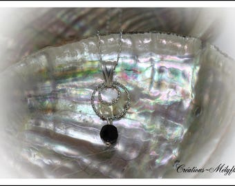 Black and silver Swarovski Crystal Necklace