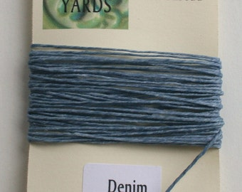 5 yrds Denim 4 ply Irish Waxed Linen Thread