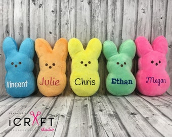 Marshmallow peeps etsy personalized peep first easter easter basket plush peep personalized baby gift negle Gallery