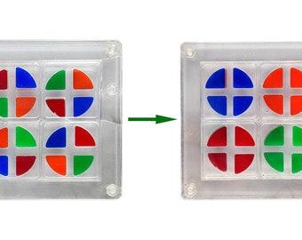 Transpa - Moving hole multi-sided puzzle.