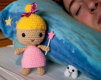 Amigurumi Tooth Fairy and Happy Tooth - Crochet Pattern