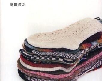 Handknit Socks Knit Pattern, Japanese Craft Book, Toshiyuki Shimada, Knitting Knee Sock, Easy Knitting Tutorial, B190