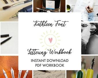 Calligraphy Worksheets Hand Lettering Workbook Modern Calligraphy Worksheets, Calligraphy Workbook, Calligraphy Lesson, Brush Lettering