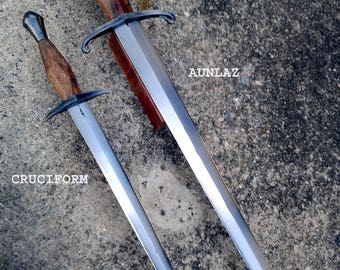 14th Century Dagger With Sheath Hand Forged by Jeremy Eichelberger (Choose from Aunlaz or Cruciform Style) (*Listing for One Dagger Only*)