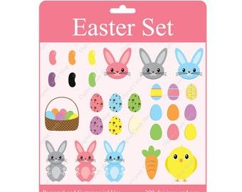 INSTANT DOWNLOAD Easter Set Design Elements Digital Scrapbook and Clipart