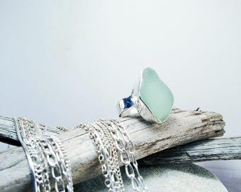 Sea Glass Silver Ring