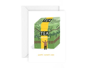 Happy Father's day card - fathers day stationery fathers day card love dad card for dad pop card love father's day tea card