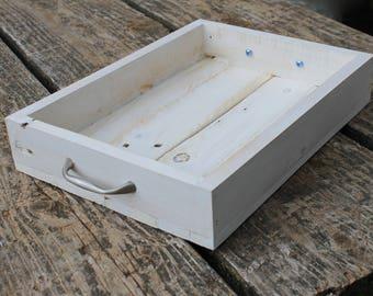 White Wedding Tray, Rustic Wood Tray, Centerpiece Tray, Wood Tray, Reclaimed Wood Tray, White Wood Tray, Wedding Tray, Farmhouse Tray, Tray