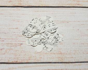 Sheet Music Heart Confetti (Large) - Wedding Confetti - Table Confetti - Table Decoration - Sheet Music - Wanderlust
