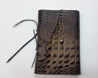 Croco Leather Journal, Leather Croco Journal, Rustic Journal, Corporate Journal
