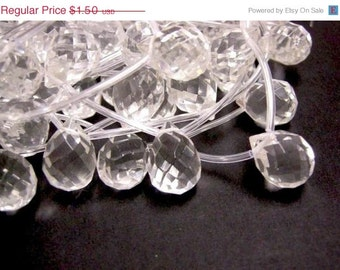 6pc 18x13mm cyrstal glass teardrop faceted beads-1578