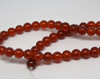 Red * Bright Red * Watermelon Red * 8mm * Round Gemstone Beads * 20 Beads
