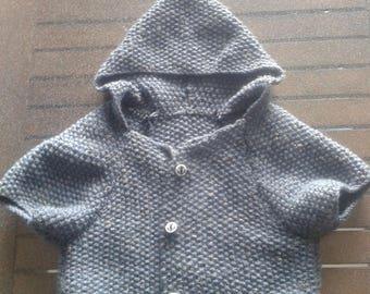 small mid-season hooded coat