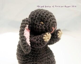 Knitted Amigurumi Sleeping Baby Bunny English Lop * * * Goodnight rabbit costume-English prop