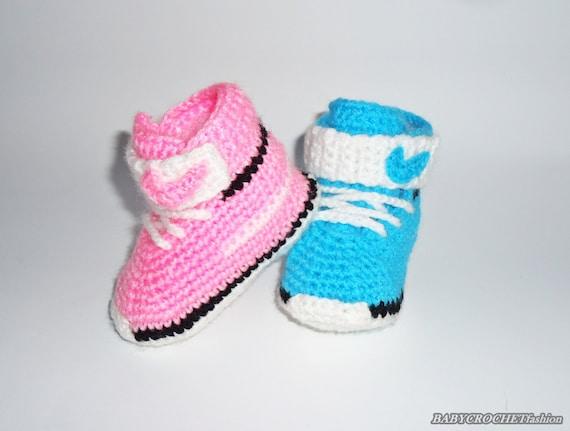 zapatillas bebe converse ganchillo