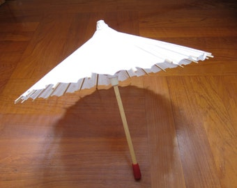 DIY White Paper Umbrella, kids party gifts, kids craft supplies, chandelier mobile, wholesale paper craft, ShineKidsCrafts