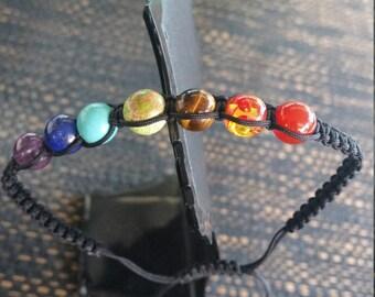 Chakra Rainbow Shamballa Bracelet