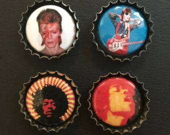 Bottle Cap Magnets set of 4