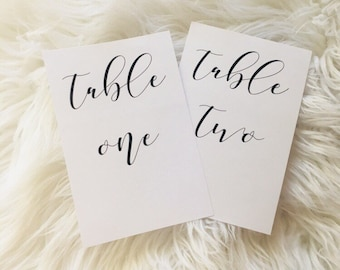 Table Numbers Flat