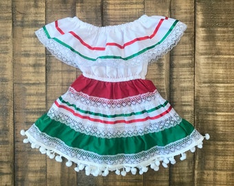 Traditional Baby Boho Pom Pom Toddler Dress