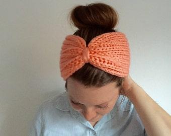 Womens Knit Accessories - Knitted Head Band - Turban Headband - Womens Accessories - Seashell Pink || REBEKKA TURBAN