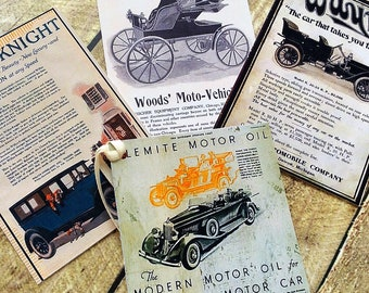 Vintage vehicles gift tags for Fathers Day, Gift Tags for Dad, old cars tags for Dad, vintage style hang tags, veteran cars tags, Father
