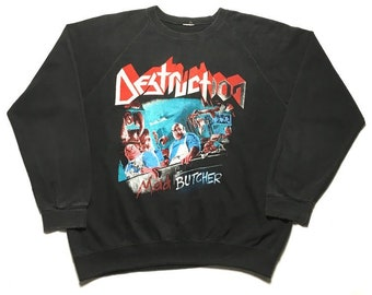 DESTRUCTION vintage 1980s sweatshirt - XL
