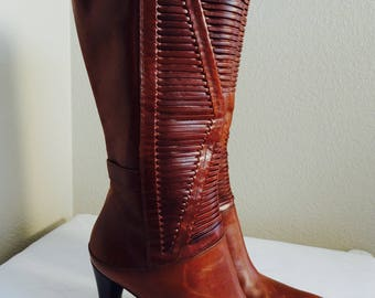 Brand New STUNNINGLY Beautiful Pair Of 'Via Spiga' Mid-Calf Boots Made In ITALY - USA Size 8M